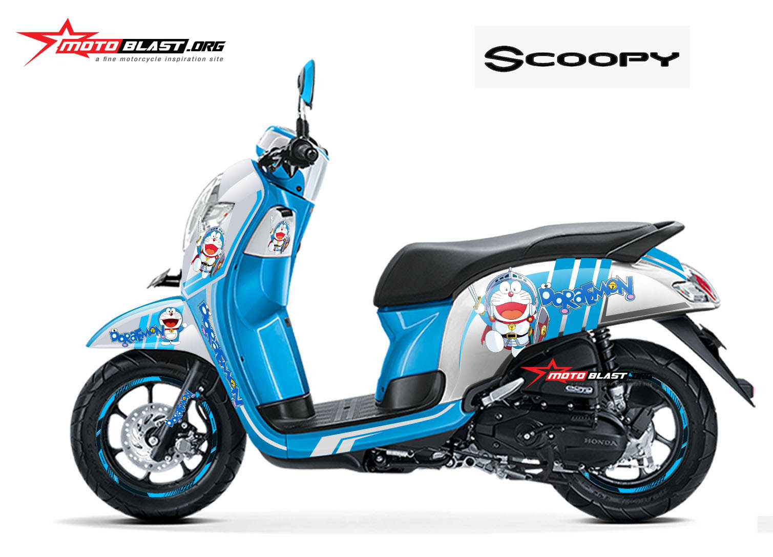 Populer Modifikasi Motor Scoopy 2019 Warna Biru Modifhits