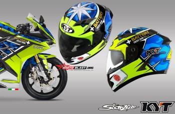 Modifikasi striping CBR250RR Livery helmet aleix espargaro