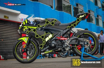 Modifikasi Striping Suzuki GSX-R150 Black The Maniac Motogp 2017