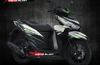 Modifikasi striping Honda Vario 150 White Hitech Green