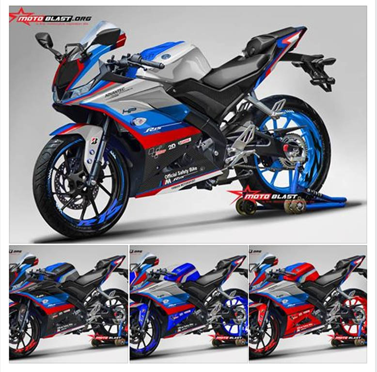 modif striping yamaha   livery safetycar motogp bmw