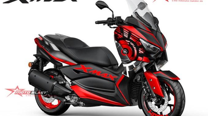XMAX 250 SUNMOON RED1