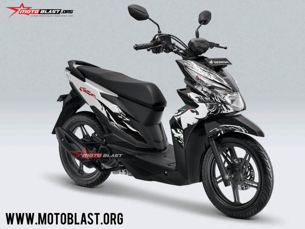 Modifikasi Striping Honda Beat Street Livery Kabuki