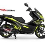 NEW PCX 150-black edition carbon -yellow2
