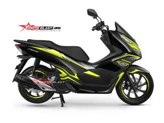 NEW PCX 150-black edition carbon -yellow2