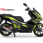 NEW PCX 150-black edition carbon -yellow3