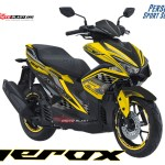 AREOX 155 VVA YELLOW TECHNO
