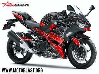 NINJA 250R FI 2018 - SPIDERMAN black