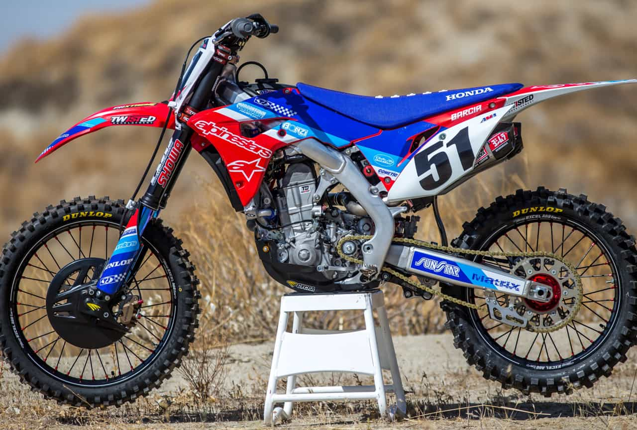 2018 honda 450 crf. unique crf justin barciau0027s monster energy cup honda crf450 powered by twisted  development and 2018 honda 450 crf