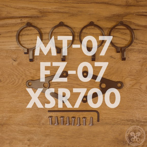 MT-07 FZ-07 XSR700 Custom Headlight Brackets
