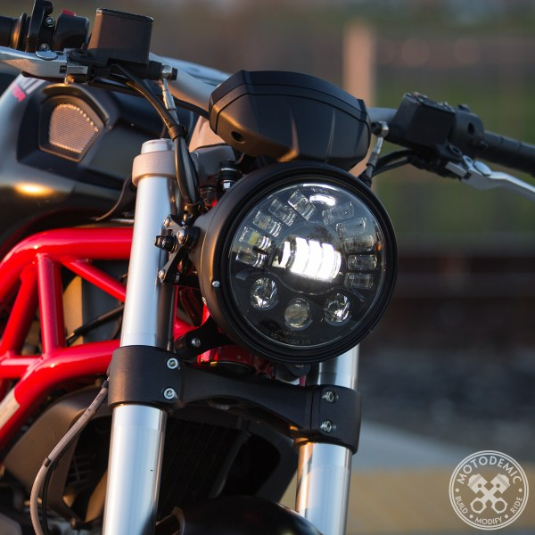 Adaptive LED Headlight on Monster