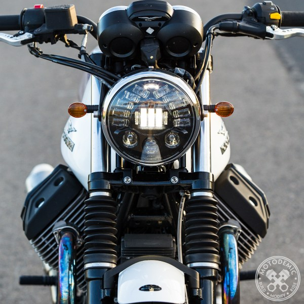 Moto Guzzi Adaptive LED Headlight Upgrade