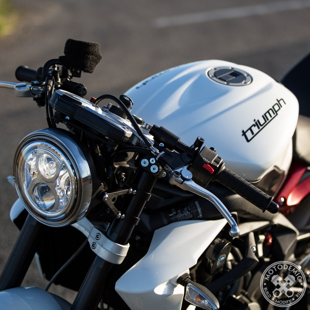 Street Triple with 2.5 Rise Clip-Ons