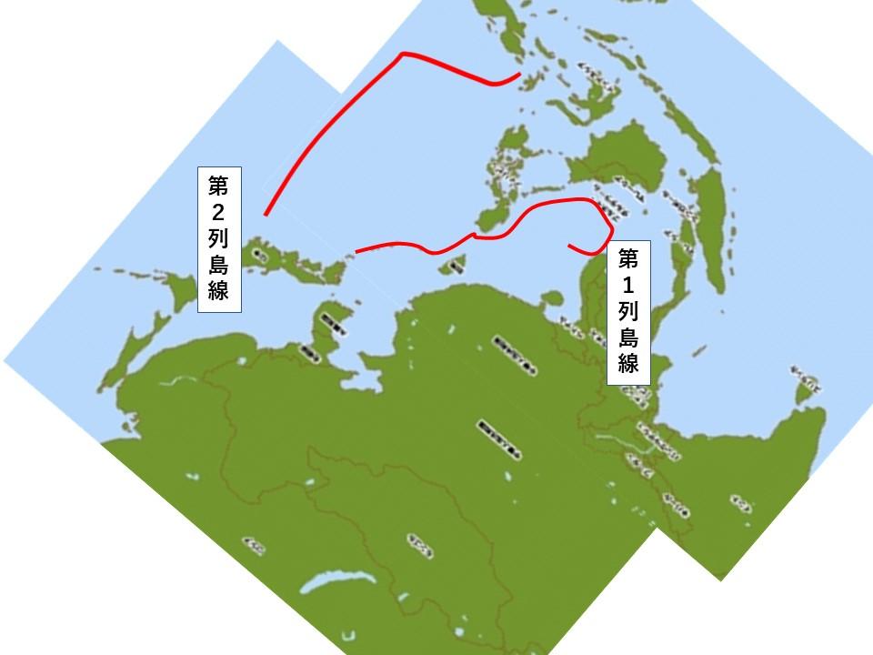 元GFPブログ地図を逆さまにして中国大陸から見た邪魔なもの