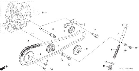 00 cam chain system