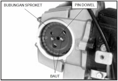 3 copot 2 baut timing gear