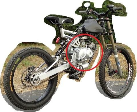 sasis sepeda bermesin motor