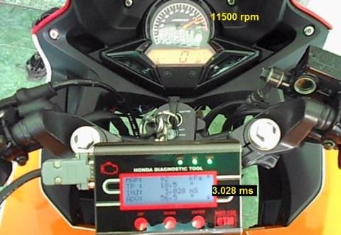 durasi injector cbr150 11500rpm