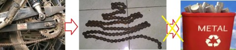 reuse waste chain sproket