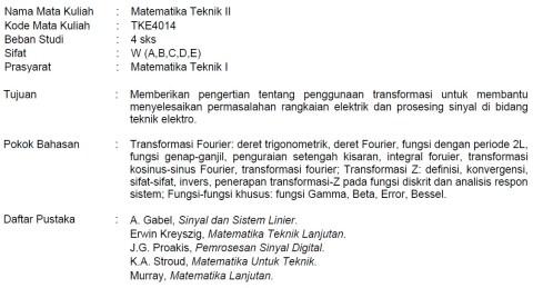 Silabus Matek 2
