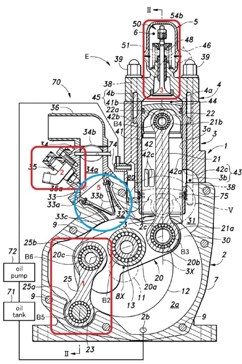 Honda-New 2T-Patent engine