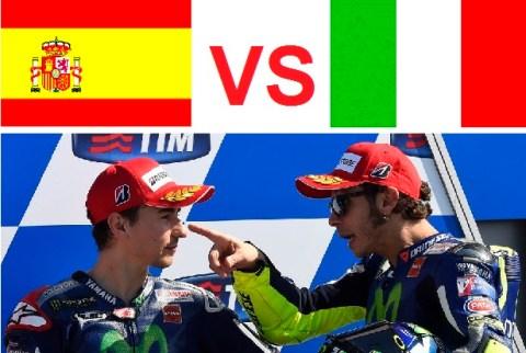 Valentino-Rossi italy-vs-Jorge-Lorenzo spain