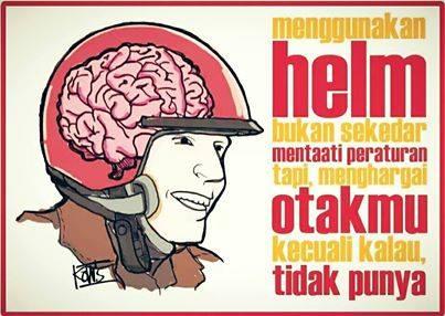himbauan memakai helm