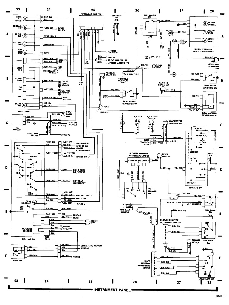 1998 Mercury Tracer Fuse Box Diagram