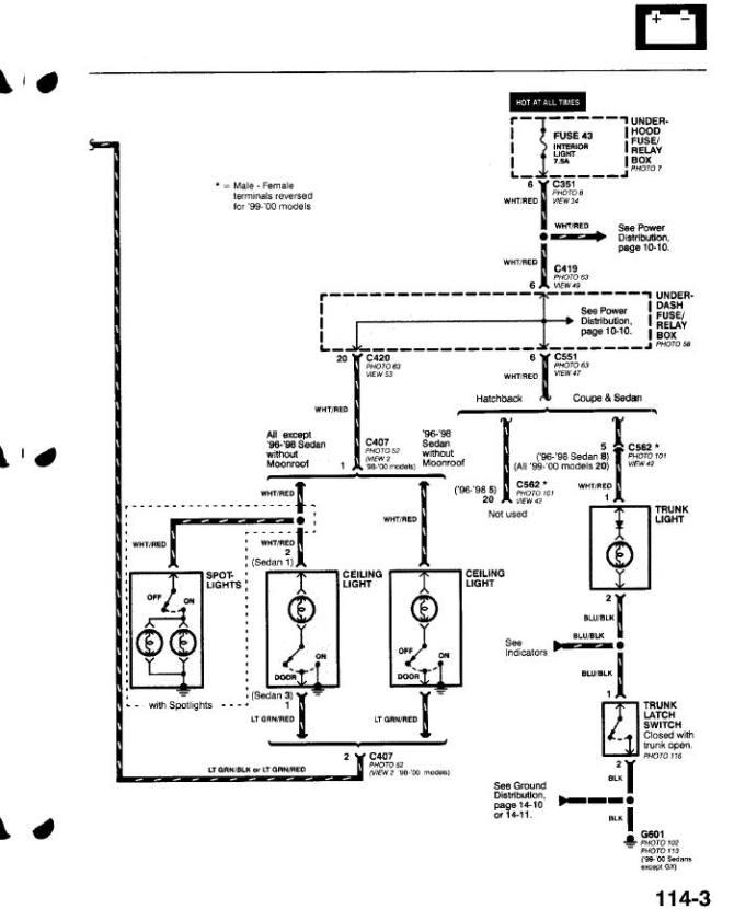 2000 honda civic brake light wiring diagram  motor harness