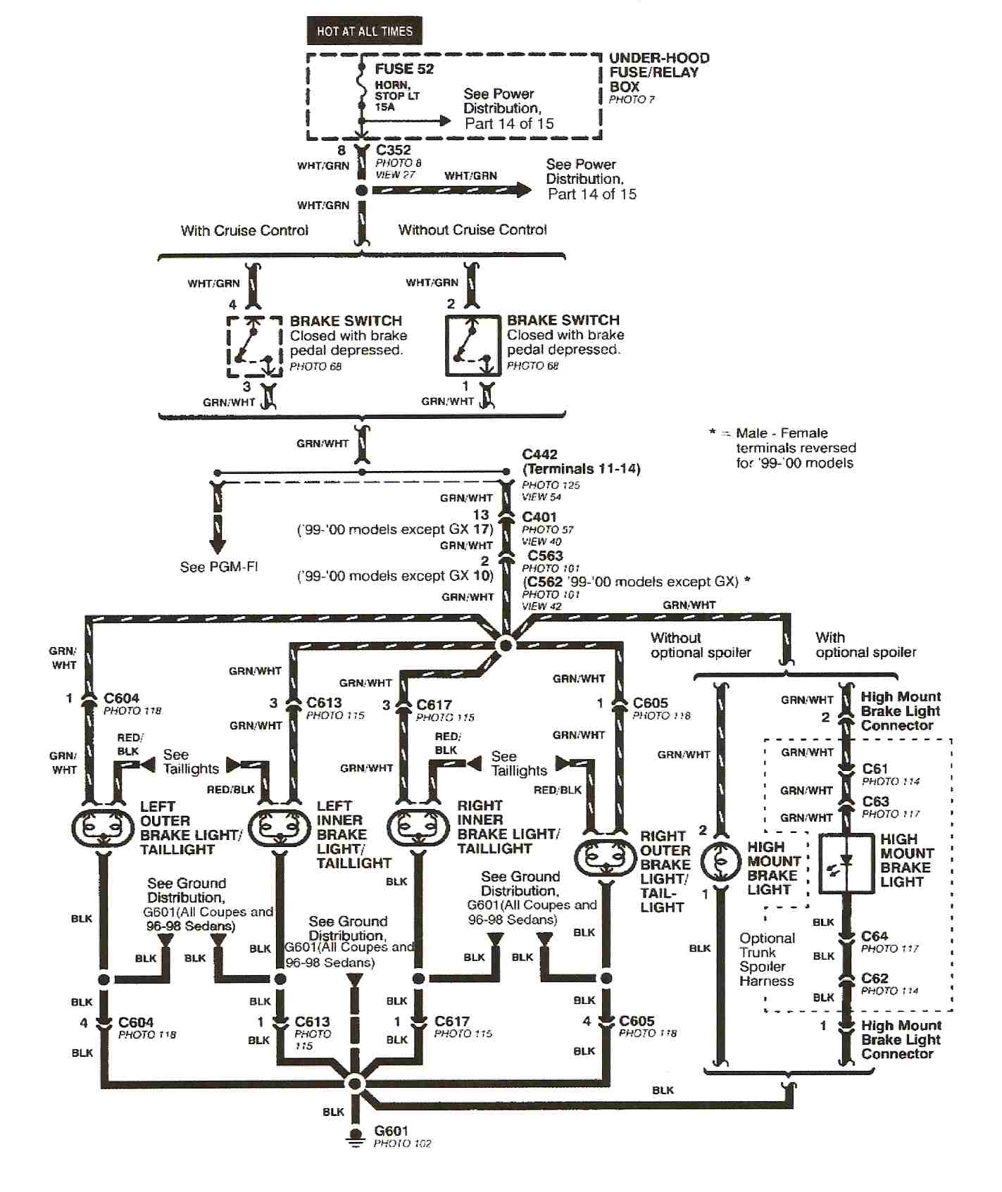 wiring diagram for tail lights on 2001 honda accord trusted wiring tail  light wire colors 2001