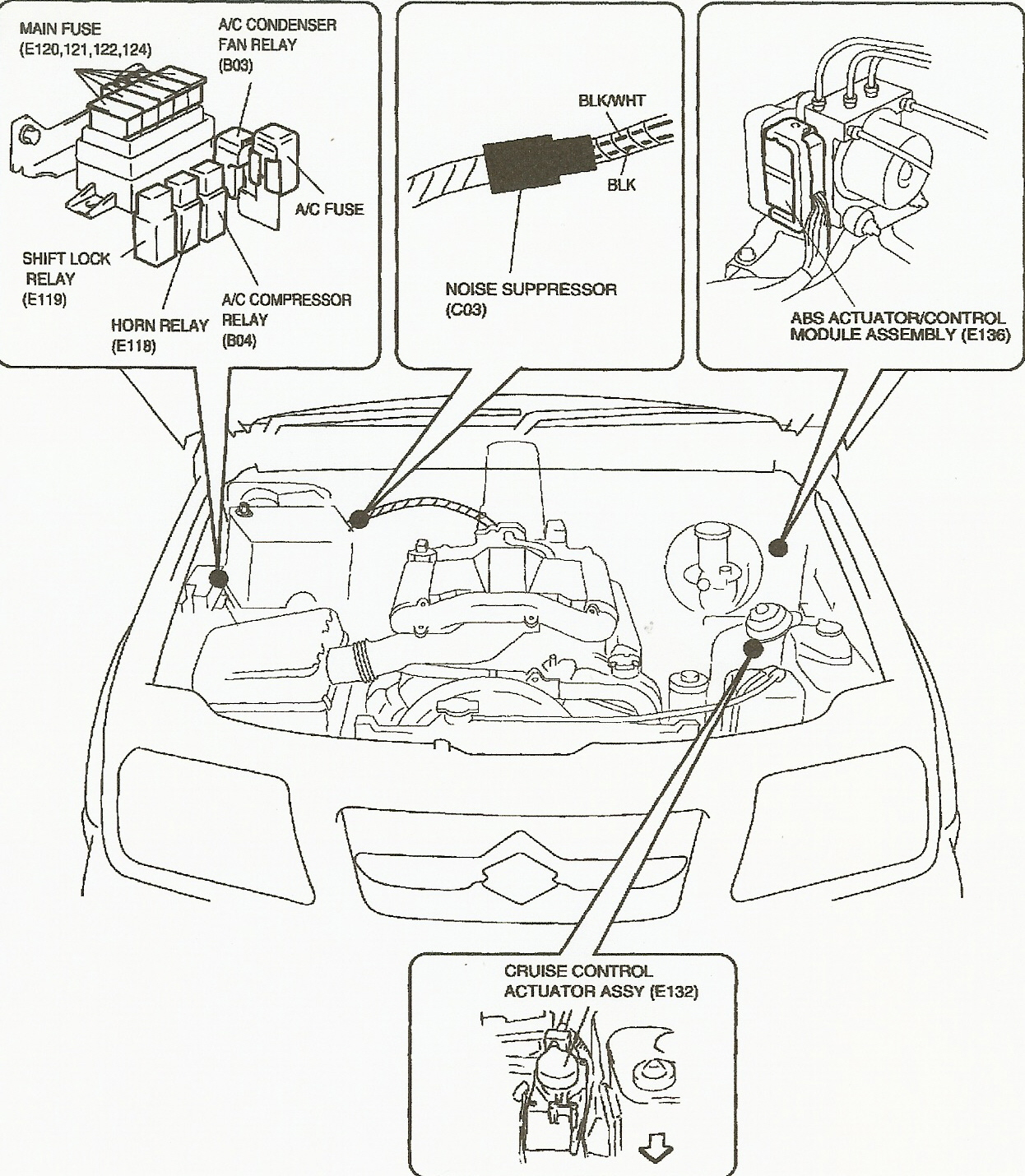 2001 suzuki grand vitara fuse box location