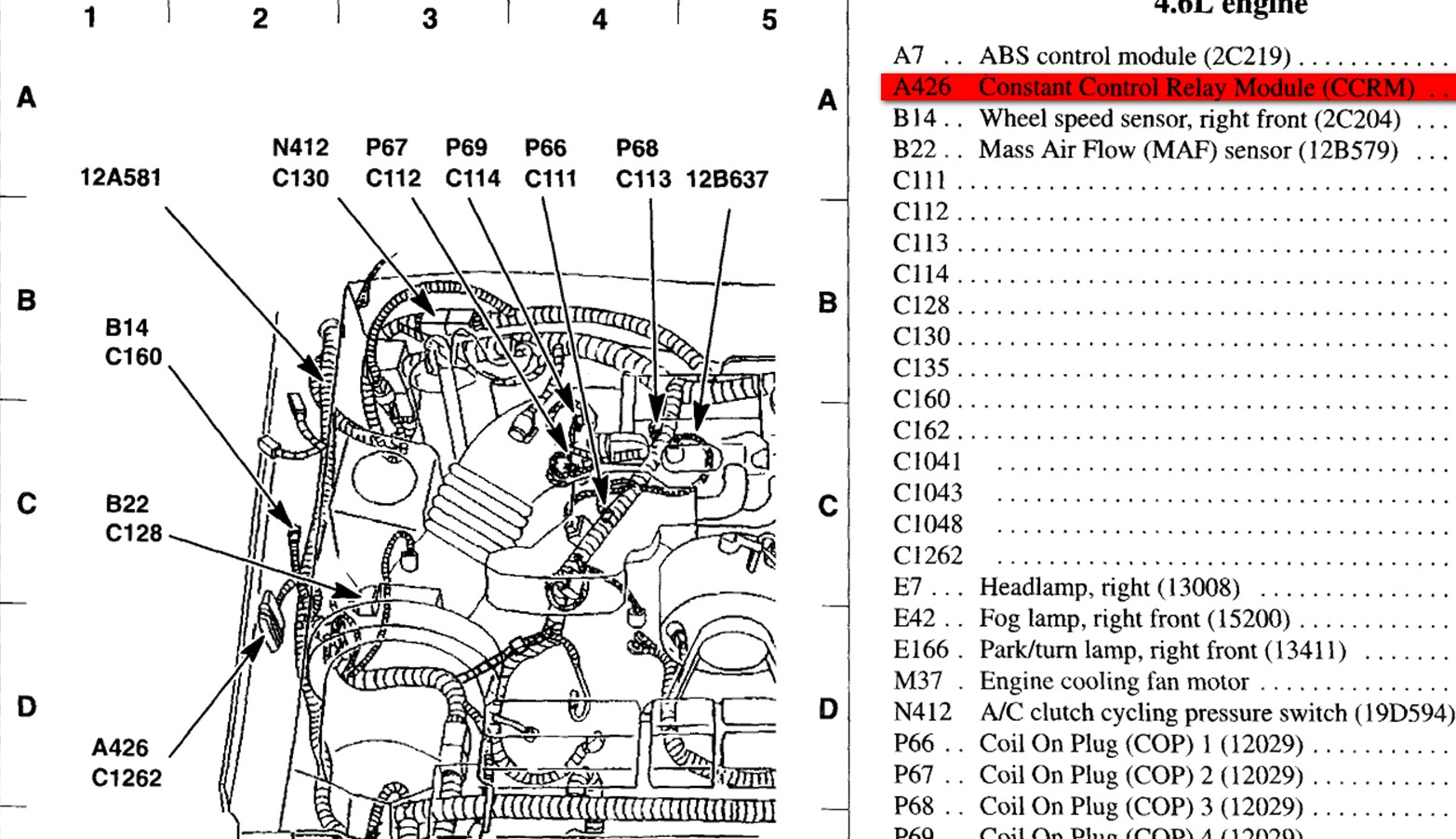 Ford Mustang 4 0 Engine Diagram