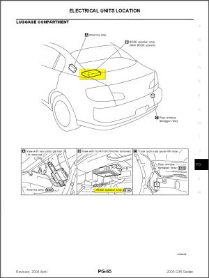 2003 Infiniti G35 Sedan Wiring Diagram  Wiring Diagram