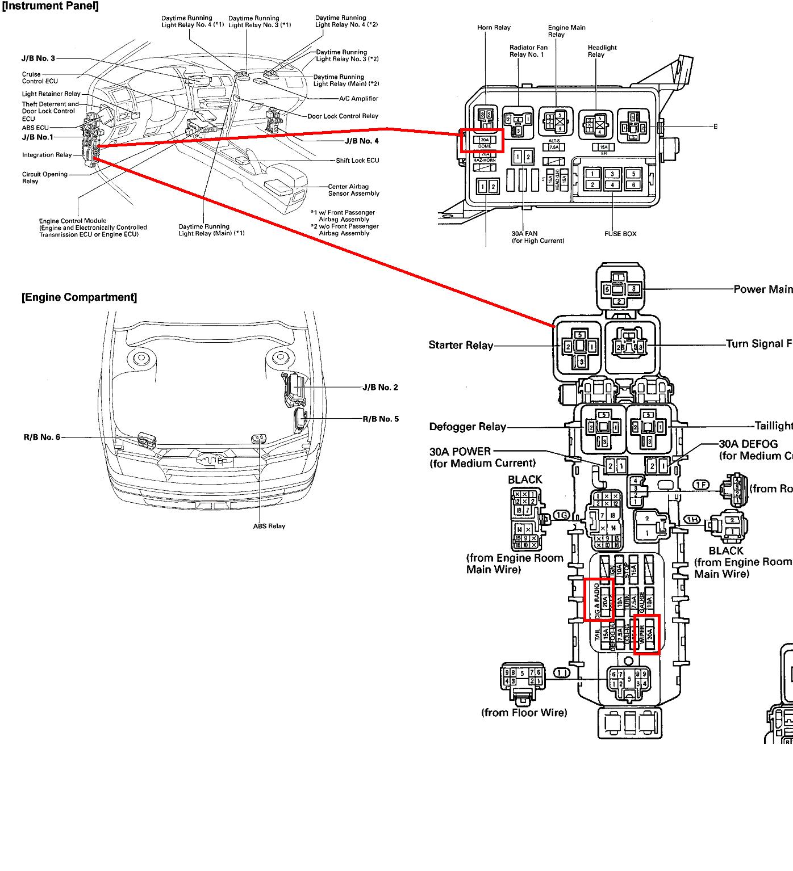 97 Toyotum Celica Fuse Box