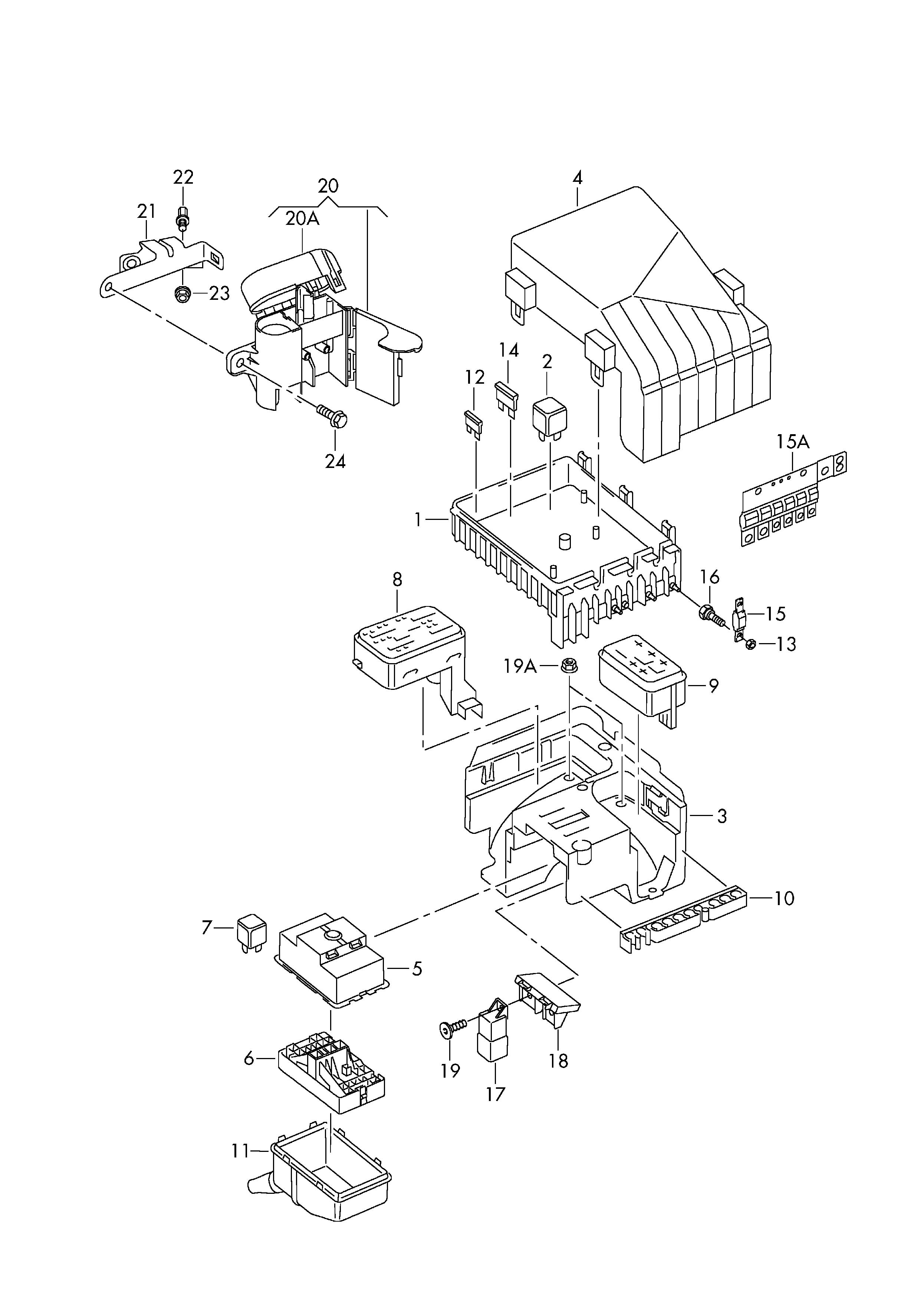 Volkswagen Touareg 2004 Fuse Box - All Diagram Schematics