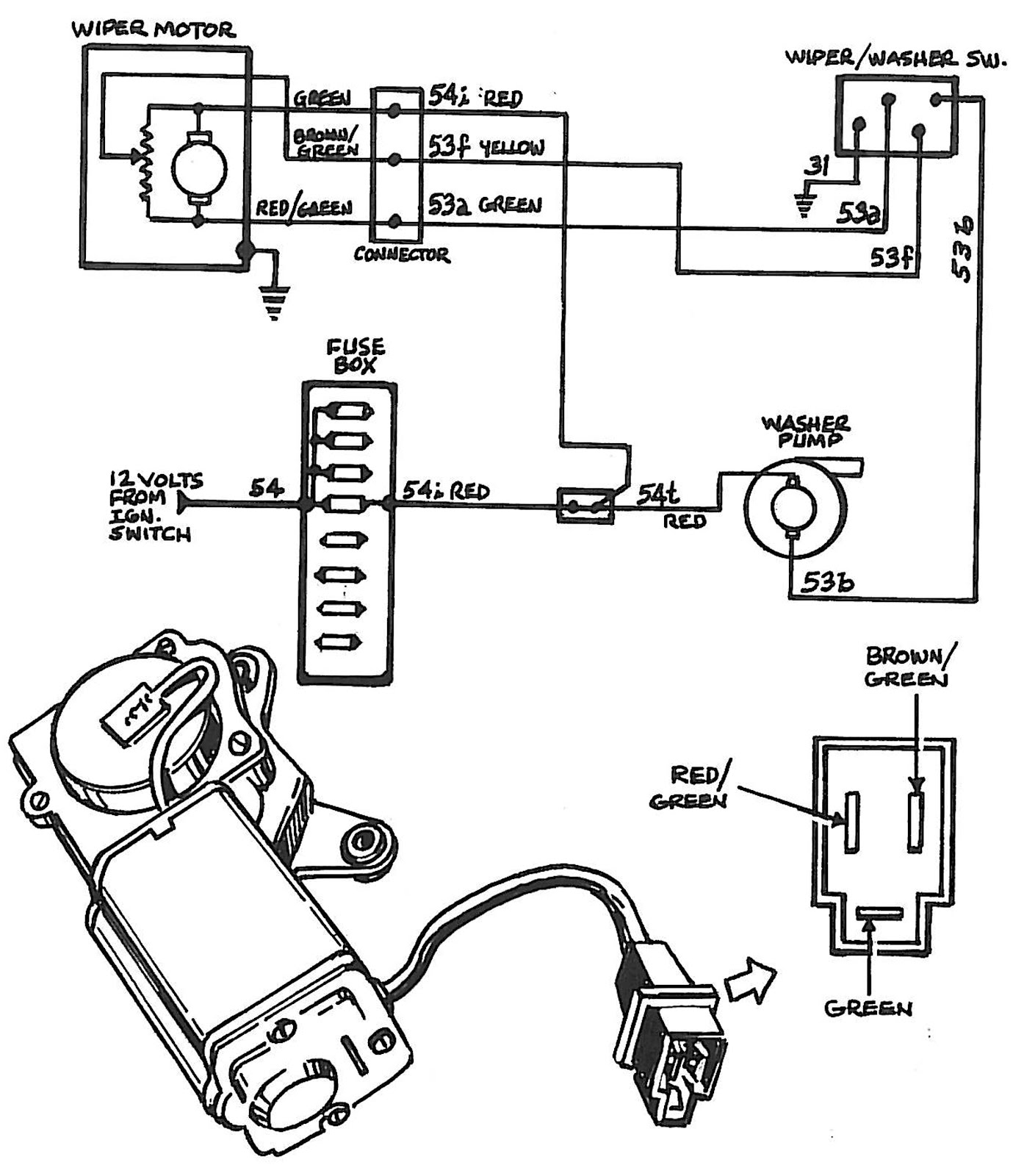 Camaro Wiper Motor Wiring Diagram