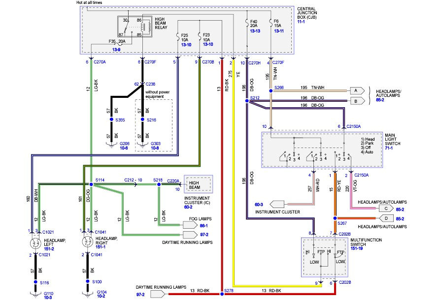 Ford Headlight Wire Diagram On Download Wirning Diagrams