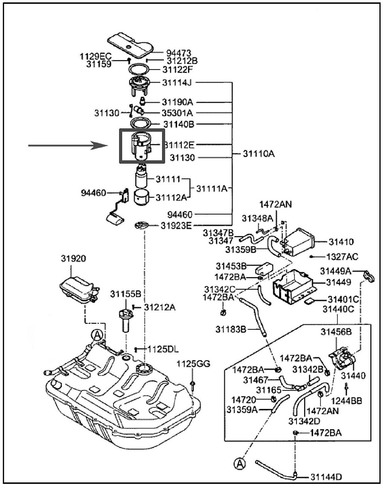 Nissan Altima Fuel Filter Location