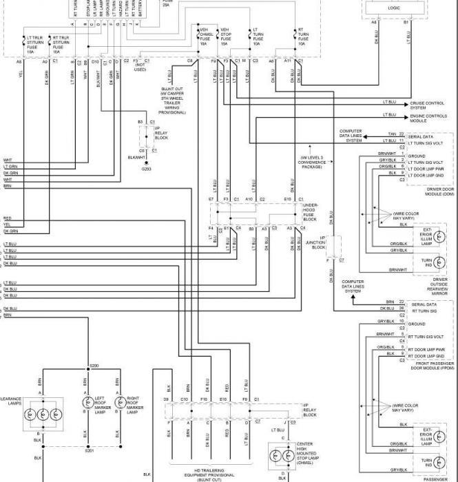 2004 chevy silverado tail light wiring diagram  center