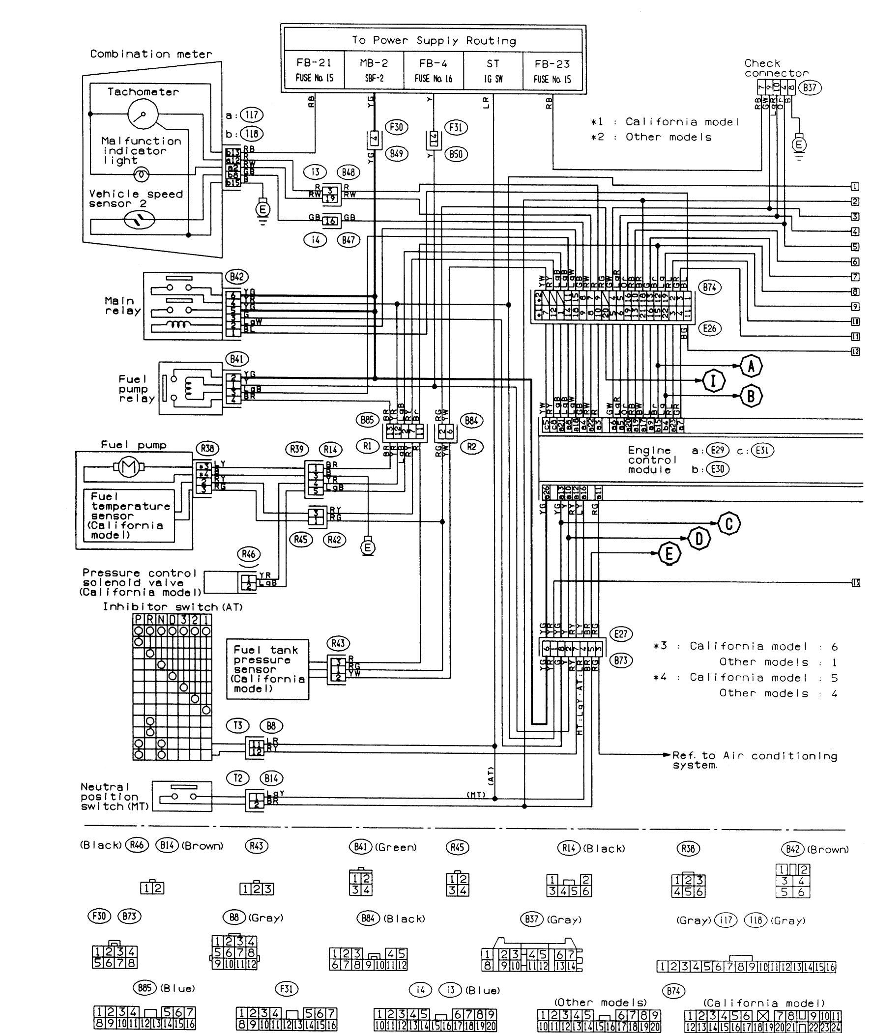 2004 Subaru Legacy Stereo Wiring Diagram