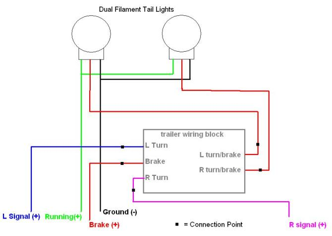 5 wire tail light diagram  chevrolet lights wiring diagram