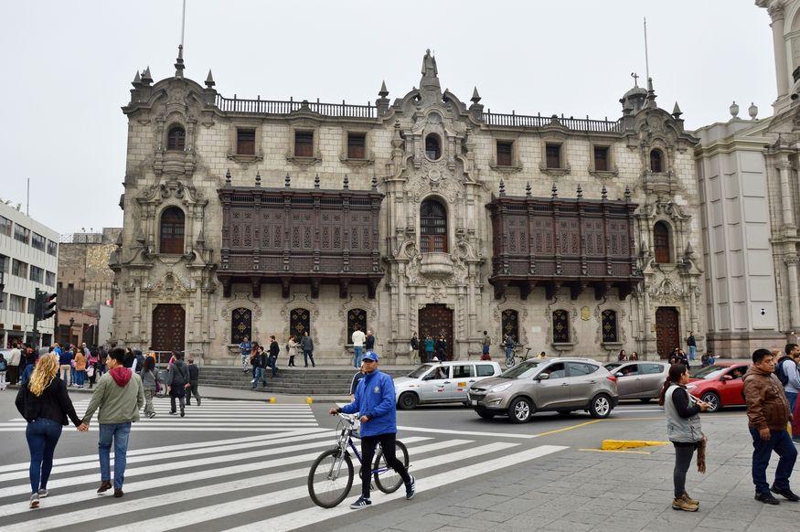 Здание в центре Лимы, занесенное в Юнеско