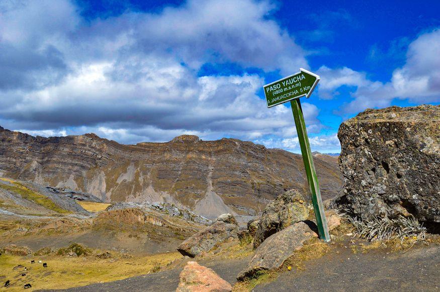 Перевал Yaucha Уараз Перу