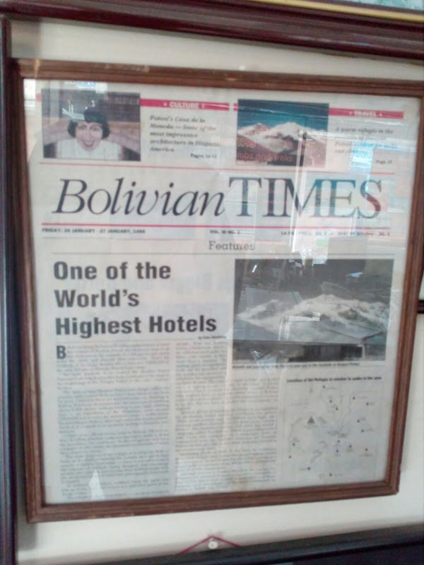 Статья в газете Bolivian Times