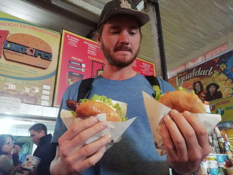 Уличная еда в Боливии