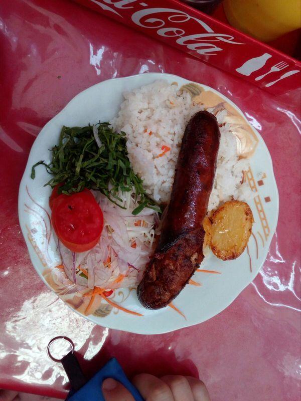 Сардельки  боливийская кухня