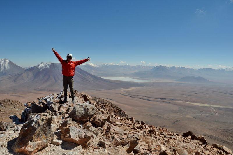 На вершине вулкан Серро Токо