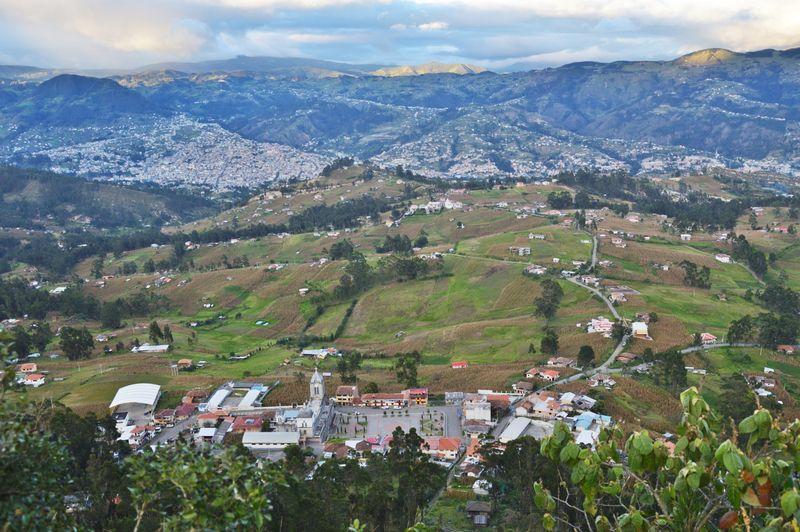 Поселок  в горах Эквадора