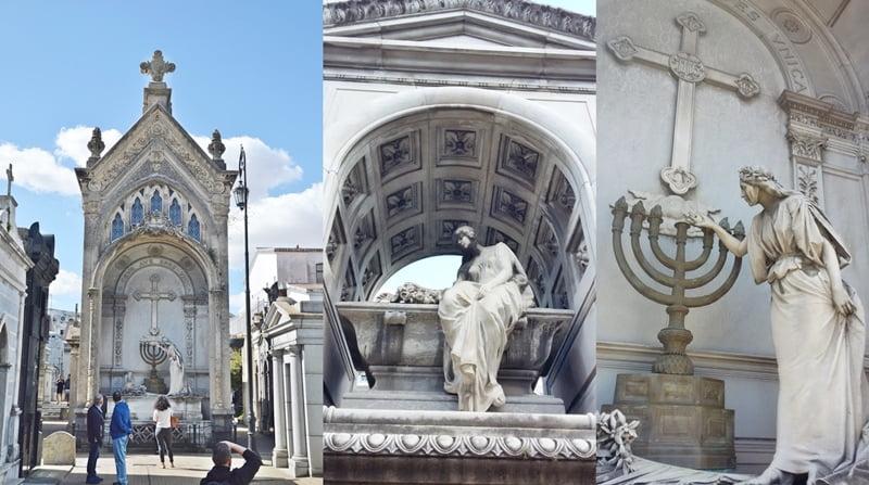 коллаж — памятники кладбища Реколета
