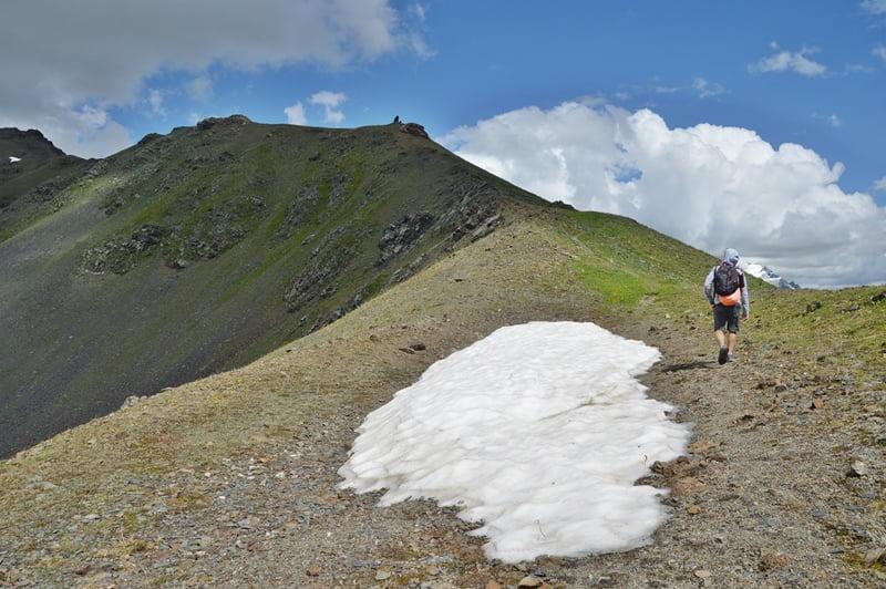 Снег летом в Сванетии